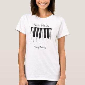 Musik är dem stämm till min hjärta tee shirt
