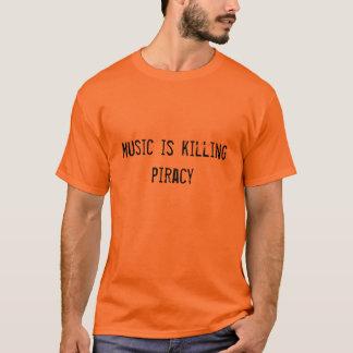 Musik är dödande piratkopiering t shirts
