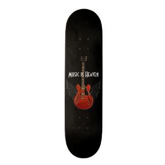 Musik är himmelskateboarden mini skateboard bräda 18,7 cm