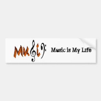 Musik är kärlek bildekal