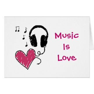 Musik är kärlek, kärlek är musik kort