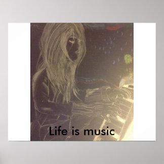 Musik är liv poster
