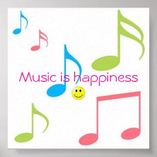 Musik är lyckan poster
