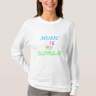 Musik är min bestfriend tee shirts