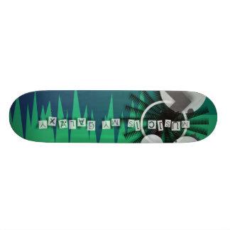 Musik är min galax mini skateboard bräda 18,5 cm