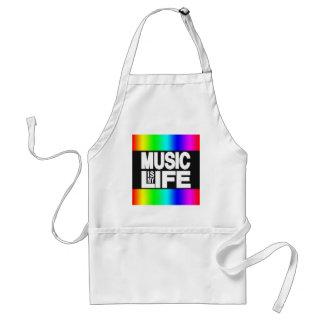 Musik är min livregnbåge förkläde