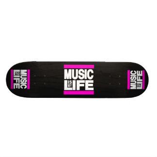 Musik är min livrosa skateboard bräda 20,5 cm