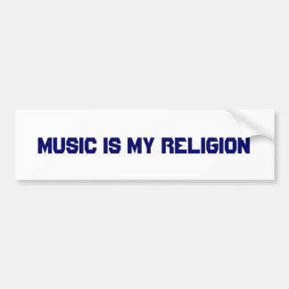 Musik är min religion bildekal