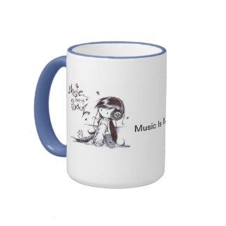Musik är min Soulmugg Ringer Mugg