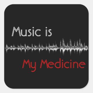 Musik är min svart & röda Soundwave klistermärke
