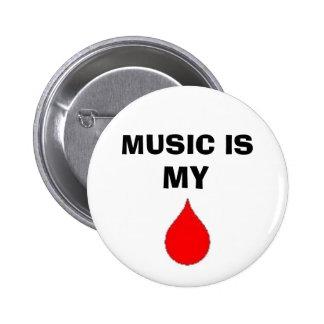 musik är mitt blod standard knapp rund 5.7 cm