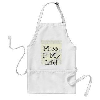 Musik är mitt liv förkläde