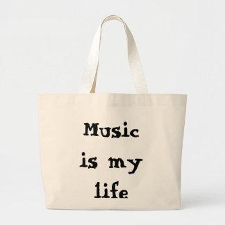 Musik är mitt liv jumbo tygkasse