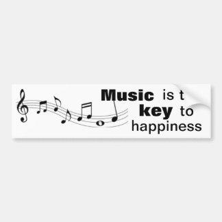 Musik är nyckeln till lyckan - bildekal