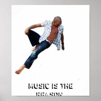 Musik är resonera affisch