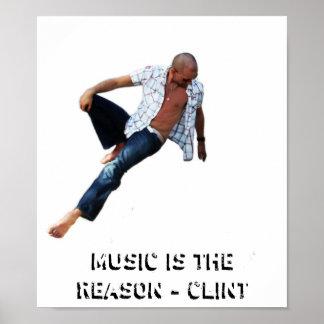 Musik är resonera poster