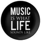 Musik är vad livljud gillar porslinstallrik