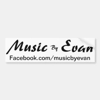 Musik av den Evan bildekalet Facebook Bildekal