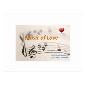Musik av kärlek vykort
