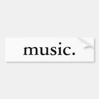 Musik Bildekal