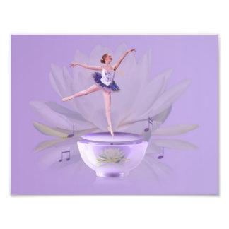 Musik boxas ballerinaen med näckros fototryck