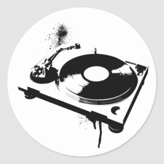 Musik för hus för klistermärke | för runda för