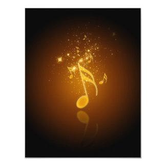 Musik för semiquavers för kall trendig för 10,8 x 14 cm inbjudningskort