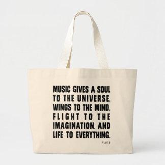 Musik ger en Soul till universum Jumbo Tygkasse