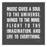 Musik ger en Soul till universum Posters