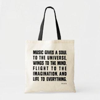 Musik ger en Soul till universum Tygkasse