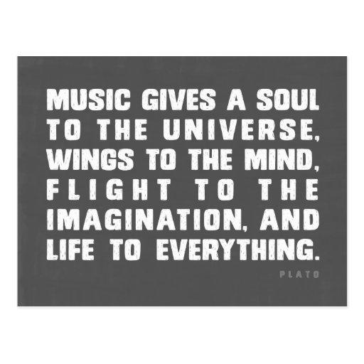 Musik ger en Soul till universum Vykort