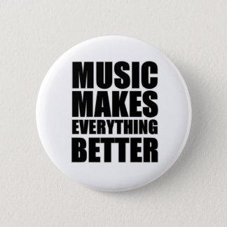 Musik gör allt bättre standard knapp rund 5.7 cm