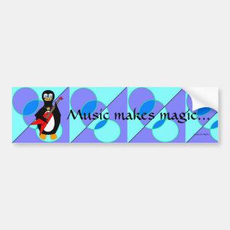 Musik gör magi bildekal