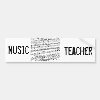 Musik ha som huvudämne/studenten/lärare bildekal