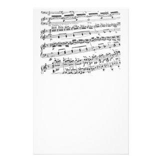 Musik ha som huvudämne/studenten/lärare brevpapper