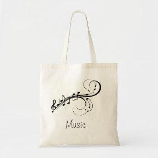 Musik hänger lös budget tygkasse