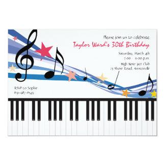 Musik i mig - födelsedagsfest inbjudan
