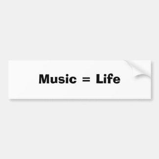 Musik = liv bildekal
