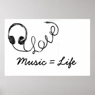 Musik = liv poster