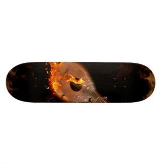 Musik lute mini skateboard bräda 18,5 cm