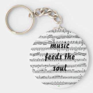 Musik matar soulen rund nyckelring