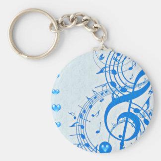 Musik mig Love_ Rund Nyckelring