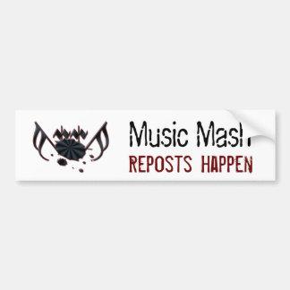 Musik mosar bildekal
