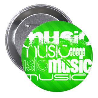 Musik; Neongröntrandar Mellanstor Knapp Rund 7.6 Cm