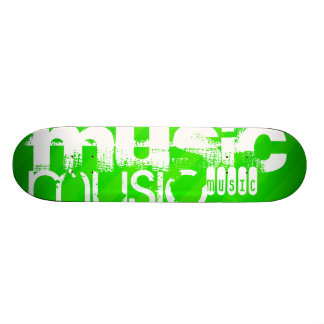 Musik; Neongröntrandar Old School Skateboard Bräda 18 Cm