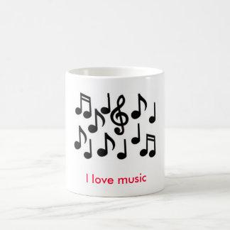 musik noter älskar jag musik vit mugg