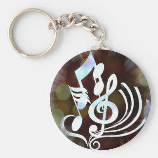 Musik noter Keychain Rund Nyckelring