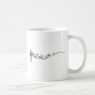 musik noter med fåglar kaffemugg