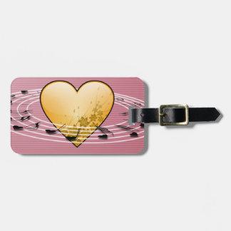 Musik noter med hjärtadesign bagagebricka