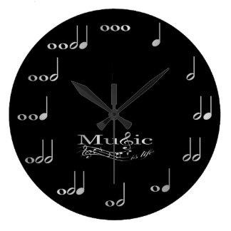 Musik noter - musik är liv stor klocka